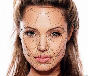 Маска красоты - универсальный шаблон на лице Анджелины Джоли